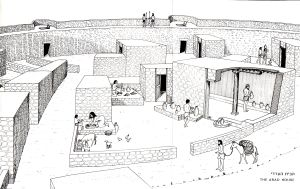 reconstruction of a Canaanite house by L. Ritmeyer